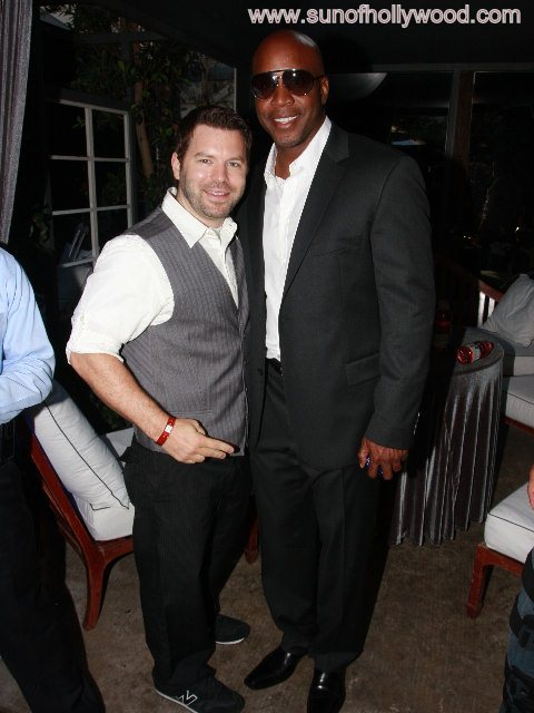 Barry Bonds with my boy Chris Hall(ywood)... In happier times