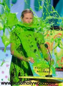 The always beautiful Heidi Klum... Beautiful even when Slimed !!