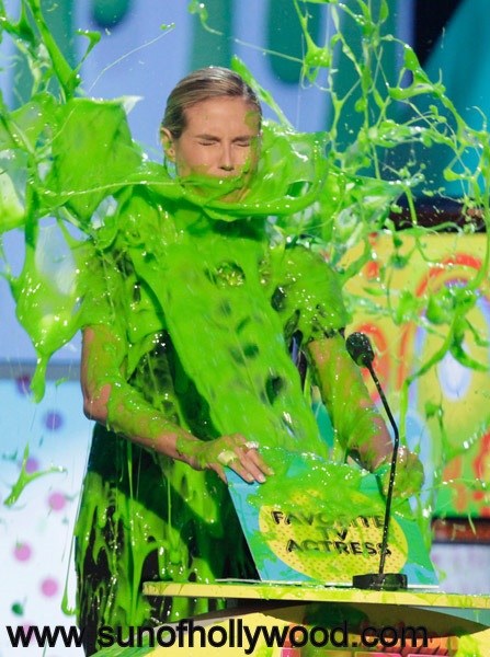 The always beautiful Heidi Klum... Beautiful even when Slimed !!