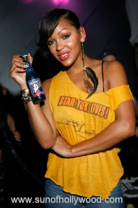 Meagan Good shows us her new drink of choice
