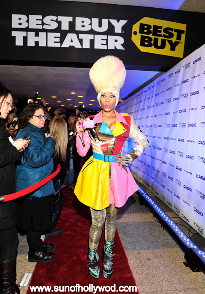 While Nicki Minaj may be pubbing Casio's New TRYX digital camera at Best Buy, her best buy seems to be that padded booty