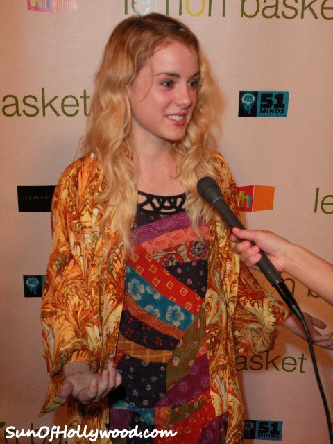 Laura Wiggins At The Lemon Basket Red Carpet on 5/11/11... Full on Blonde