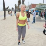 Amber Rose Loves The Color Of Tennis Ball