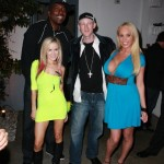 The Big EZ Along With The Even Bigger John Salley... The Larger Than Life Paula Labaredas... And The Top Heavy Mary Carey, at Paula's Birthday at Lexington Social House