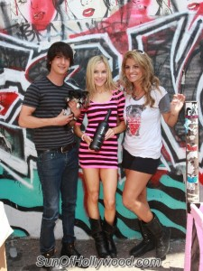 """Chad Rogers, Paula Labaredas and Bridgetta Tomarchio, the Host Of """"Cause Just 4 Paws"""""""