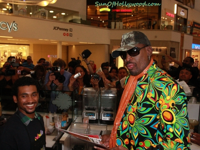 Dennis Rodman Brings Color And Flavor To Millions Of Milkshakes In Culver City