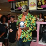 Dennis Rodman Signing A Pair of Nike Air Jordans