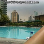 Kim Lee sunbathing at her Hotel in the Philipines... U know u wish u were there too