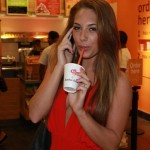 A Jamba Juice Smoothie In The Hands Of Kirstina Colonna... Refreshingly Hott !!