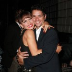 Karina Smirnoff and last season's partner, Ralph Macchio.. The Karate Kid... All Growd'z Up