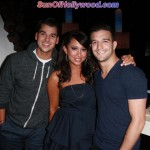 Rob Kardashian reppin for the Kardashin Krew, Cheryl Burke and Mark Ballas