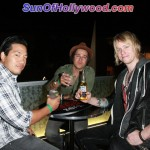Ryan Cabrera and his homies have a toast