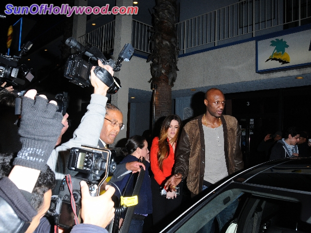 Lamar looks like he's getting used to the Kardashian Treatment during the NBA Lockout
