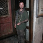 Bam Margera hides behind a wall from Gail Force Winds