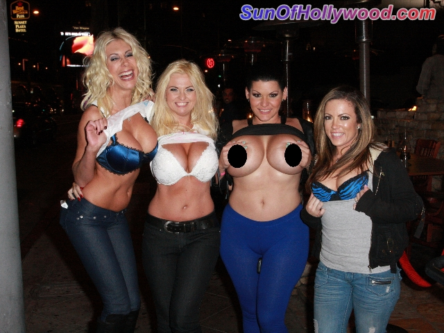 Puma Swede At Saddle Ranch With Her 3 Headed Friends: Bobbie Eden, Angelina Castro, and Carmen Valentina