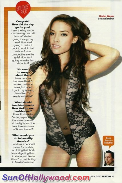 Giulini Wever Is Nicely Fit... Gracing The Pages Of Maxim's Picks