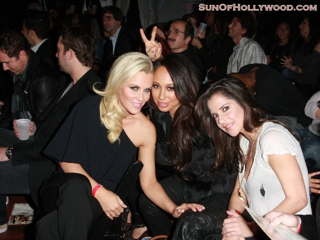 The Spirit Of Playboy Lives on for Jenny McCarthy, thanks to her sister Joanna... pictured with Cheryl Burke and Random Hottie Homegirl