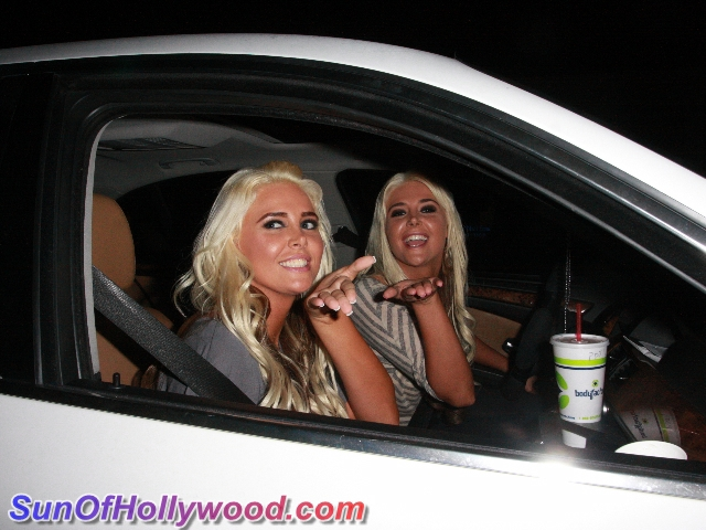 The Shannon Twins Blow Kisses To SunOfHollywood.com Before Their Trip Across The Pond