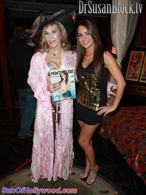 Dr. Susan Block with Penthouse Pet Of The Year 2012, Jenna Rose
