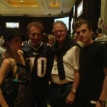 Paris Hilton with new bestie and possible soon-to-be Biz partner Steve Wynn, along with Rick and Conrad Hilton