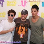 Scooter Braun with members of The Wanted