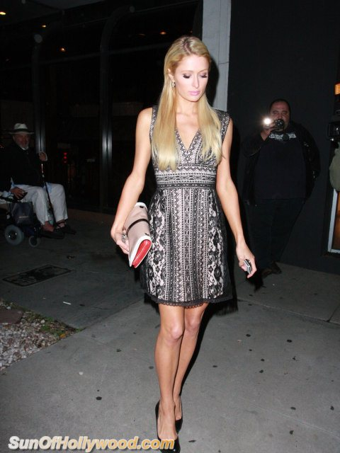 VIDEO: Paris Hilton And Petra Ecclestone Leave Madeo's For Dinner… Then A Monster Brawl Breaks Out !!!!