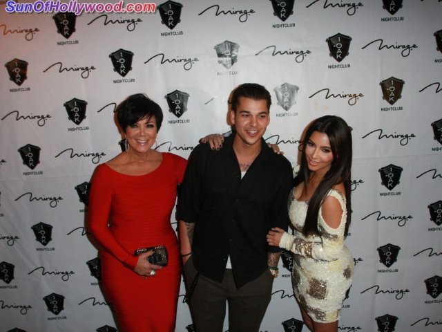 Kris Jenner And Kim Kardashian Help Celebrate Rob's 25th on St. Patty's Day