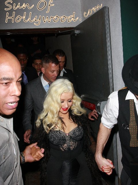 Christina Aguilera And Matt Rutler's Night Out