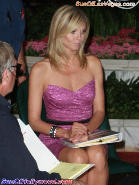 Heidi Klum And Kevin Frazier Get All Commercial About It At The MGM Grand In Vegas