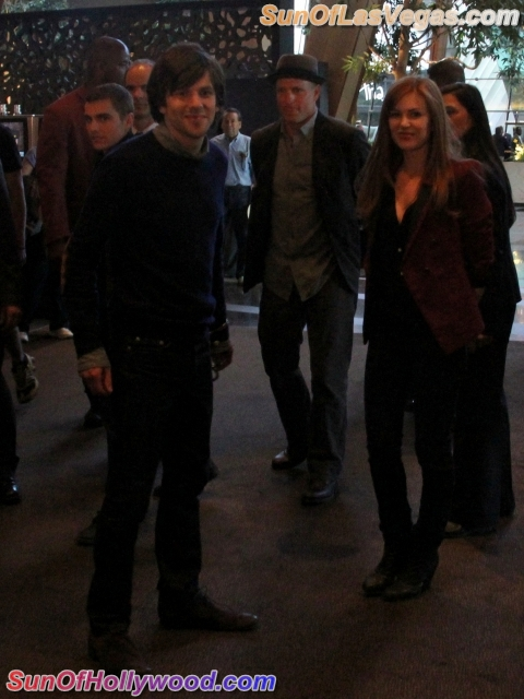 Jesse Eisenberg, Woody Harrelson and Isla Fisher.  Now You See Me.. Now You See Me... Again
