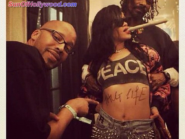 Rihanna Continues To Pay Homage To Tupac Shakur With Her Body And Ink