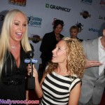 Mary Carey with HDNet Reporter, and Former TMZer... Katie Daryl