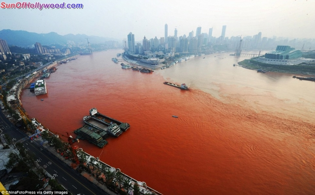 The Yangtze River Dragon Turns Blood Red For The Dragon Year Of 2012