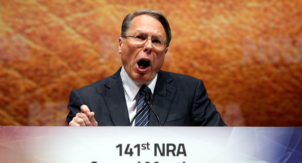 Wayne LaPierre.  He Likes To Blow Guns And Blow Hot Air