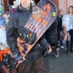 Adrian Grenier Powders His Snowboard's Nose