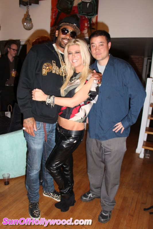 Tony DeNiro, Co-Founder Of Pheed, And Tara Reid With The Prophecy