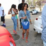 Karrueche Tran gets ready to celebrate her Birthday at Toxic