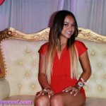 Karrueche On Her Sweet Kandy Throne