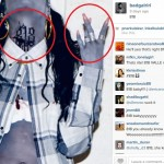 818 is the Area where Karrueche Lives.. Throwing up W's just like Karrueche Did
