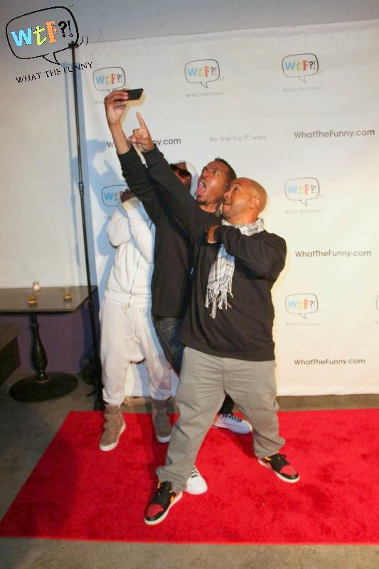Marlon Wayans, Omar Epps & Mitchell Marchand Take An Instagram Pic On WhatTheFunny.com's Holiday Party Red Carpet
