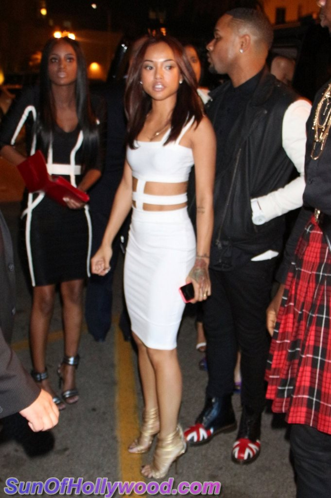 Karrueche Hits Up The Hollywood Nightlife For New Year's Eve 2014