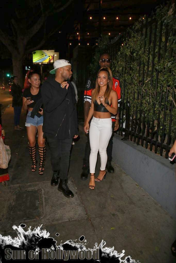Tyga Gets A Visit From Karrueche, JRyan & Christina Milian
