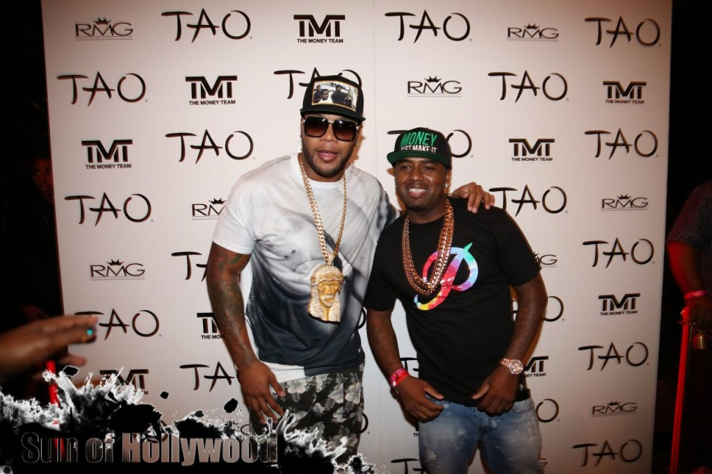 Flo Rida & P-Real In The Venetian Villa Known As Tao