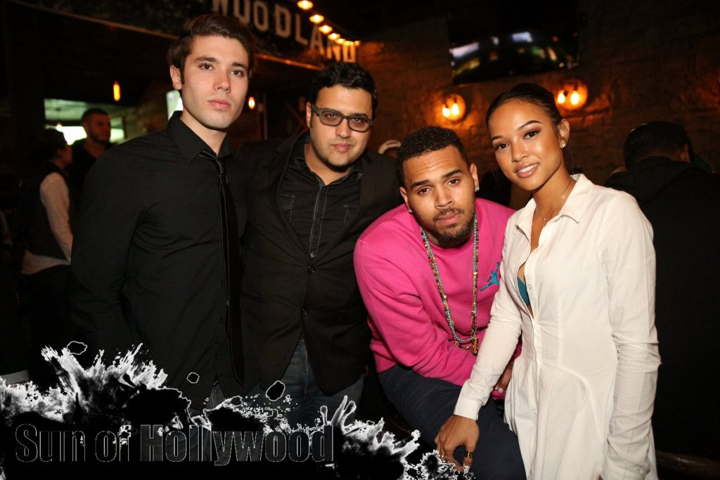 Kristos Andrews, Director Gregori J. Martin, Chris Brown & Karrueche in a Show of Solidarity For The Bay