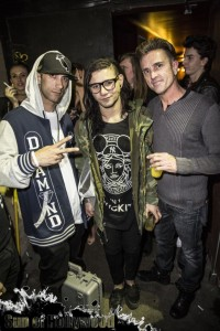 Skrillex with John Whinnery Of PatsLegacy.com (right) and Shane from iDab Glass (Left) ... Making Parties That Make You Jealous