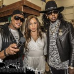 Ashley with Cavie & Trinidad James At Kannon Ent's 1st Annual Grammy After Party