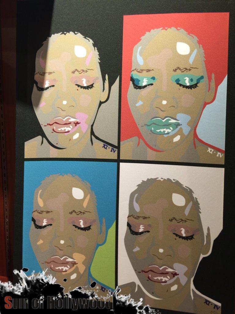 Sham Ibrahim's Celeb Selfie Portrait of Rihanna