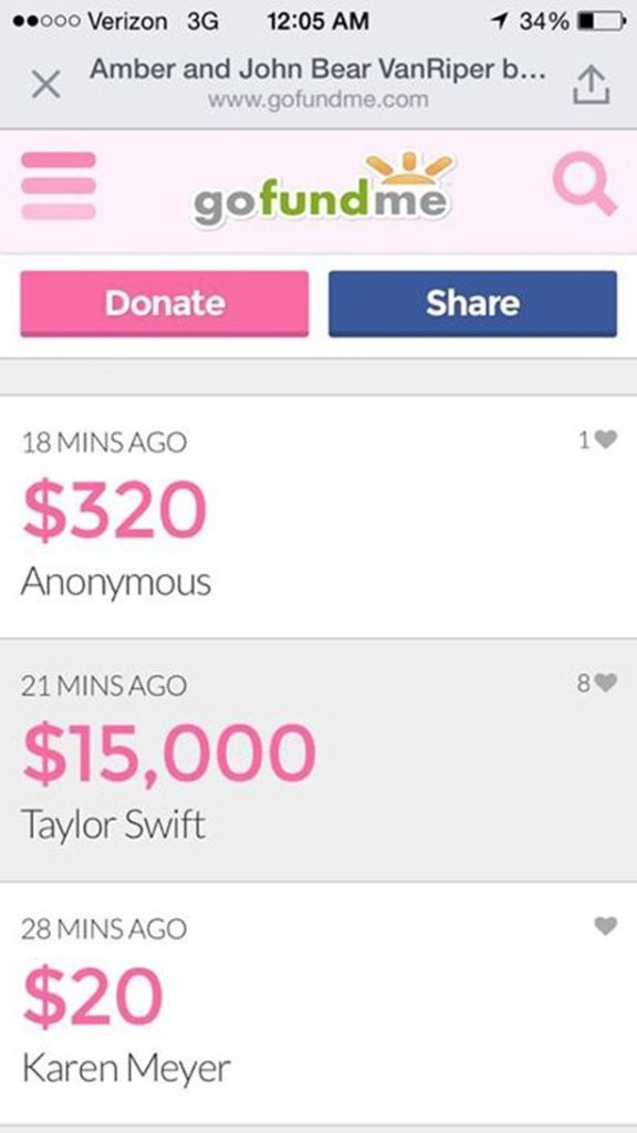 Taylor Swift Donates $15,000 To Firefighter Who Saved His Own Family