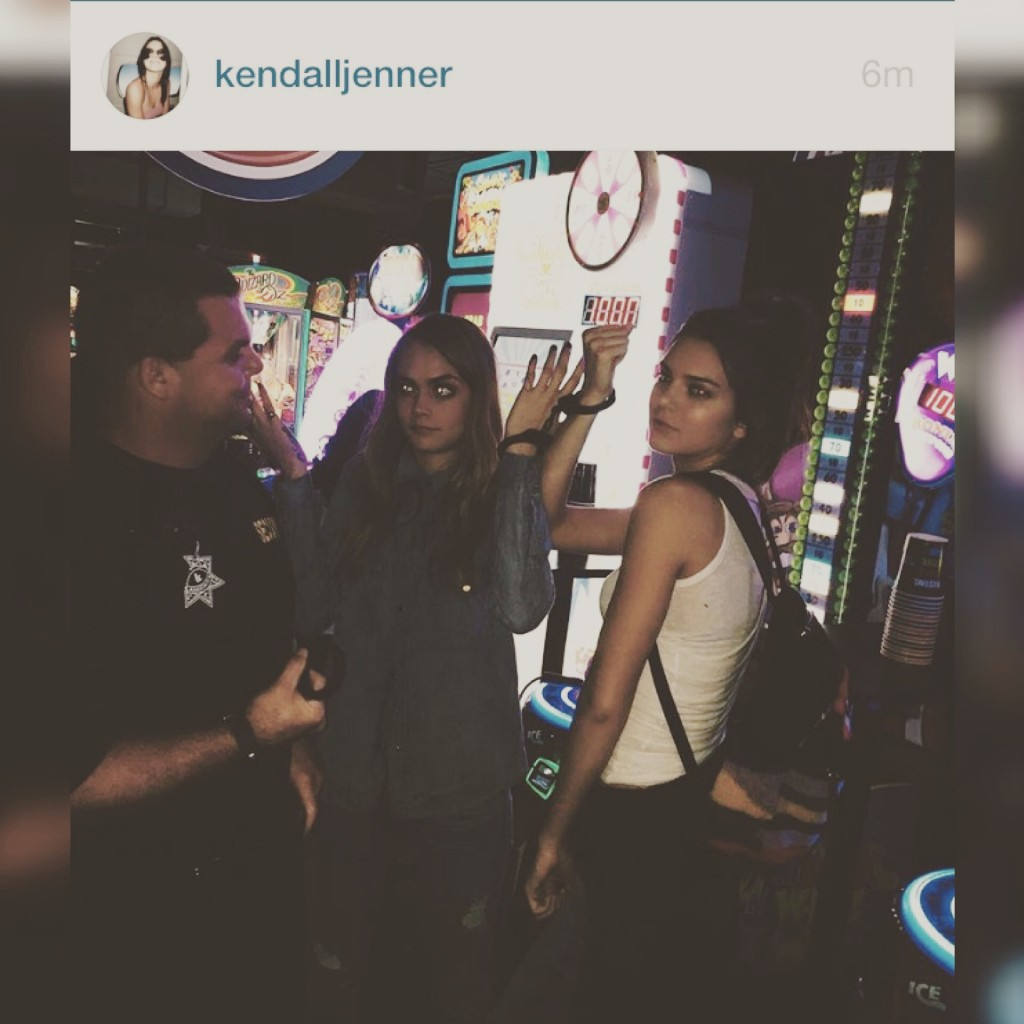 Kendall Jenner & Cara Delivingne's Dave & Busters Date Night