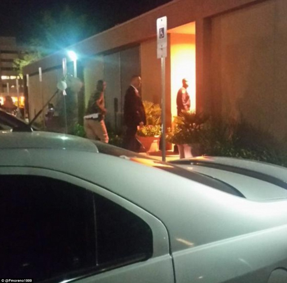 Kobe Bryant seen entering the back of Sunrise Hospital in Las Vegas to visit Lamar Odom
